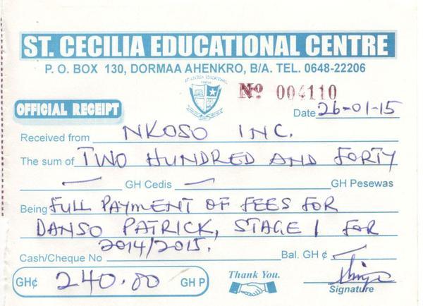 2014 2015 patrick payment receipt