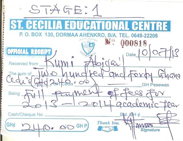 2013 2014 school receipt abigail kumi