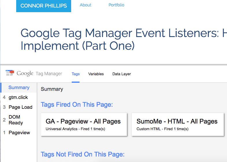 google tag manager preview debug