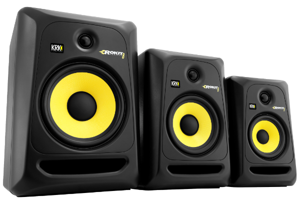 krk systems studio monitors headphones subwoofers speakers
