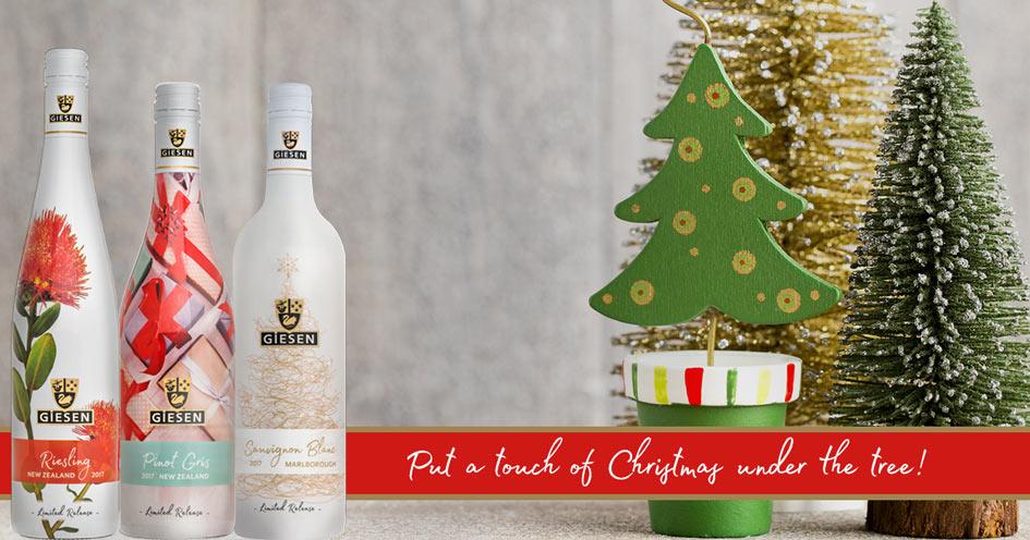 Giesen Christmas Wine under this years tree