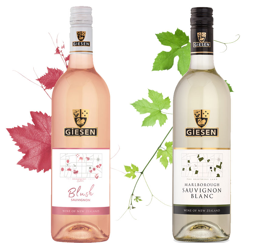 Blush Wines Sauvignon and Riesling