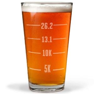 Runner's Measurements Engraved Beer Pint Glass By Gone For a Run