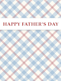 Custom front fathers day plaid medium