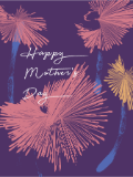 Custom front mothers day abstract flowers medium