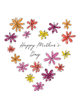 Custom front mothers day drawn flowers medium