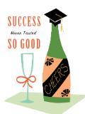 Custom front success never tasted so good graduation medium