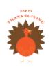 Custom front thanksgiving turkey small