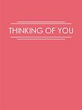 Custom front thinking of you medium