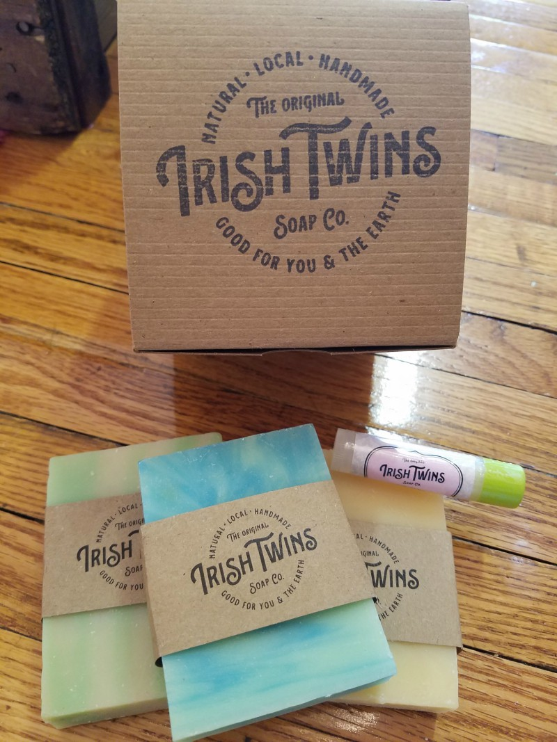 real personalized gift sent by gifts-done supplier Irish Twins Soap Company
