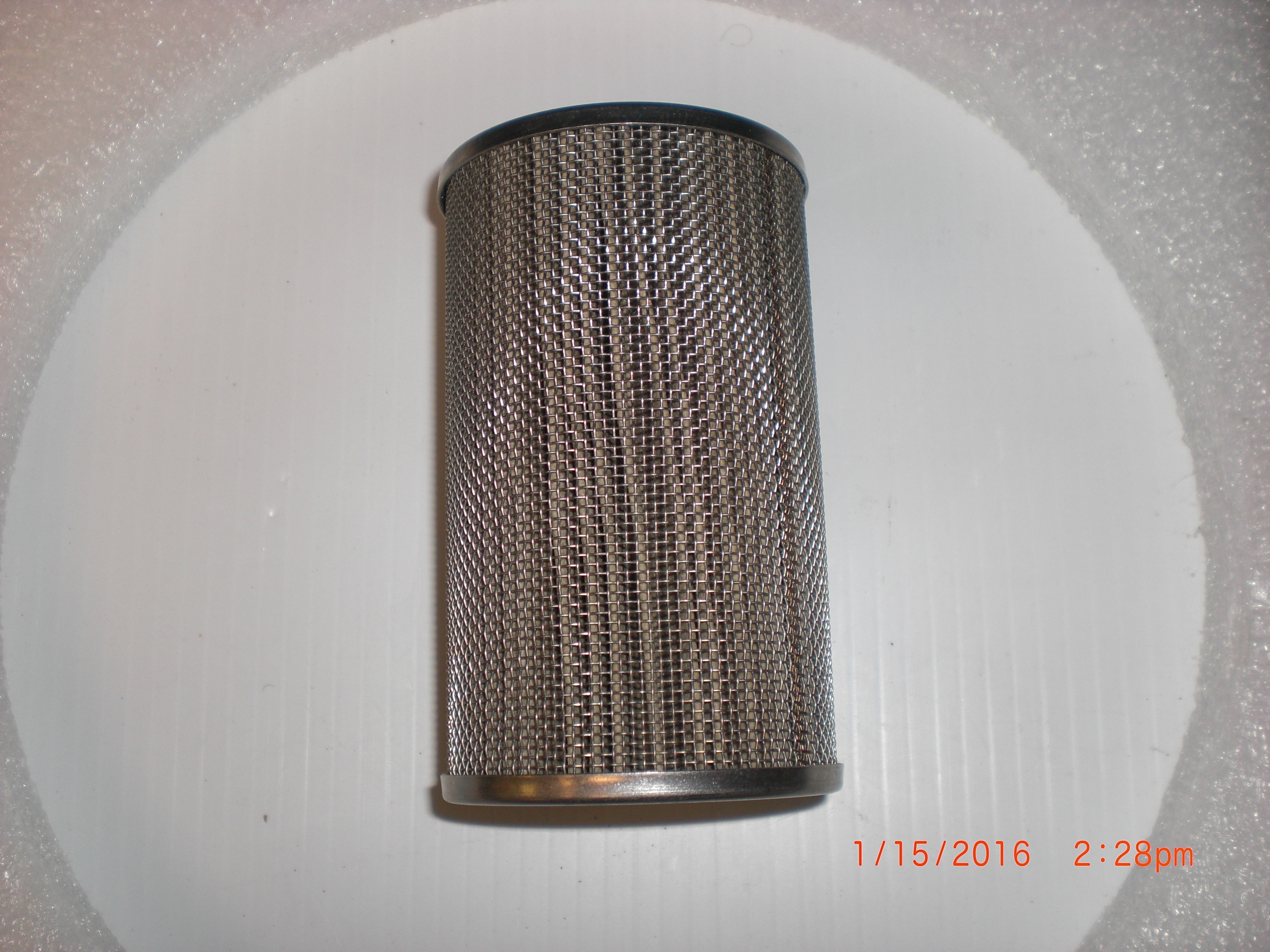 Filter  Vacuum  Element SS/ PolyPro 5 micron Mass-Vac #5-SS-4in