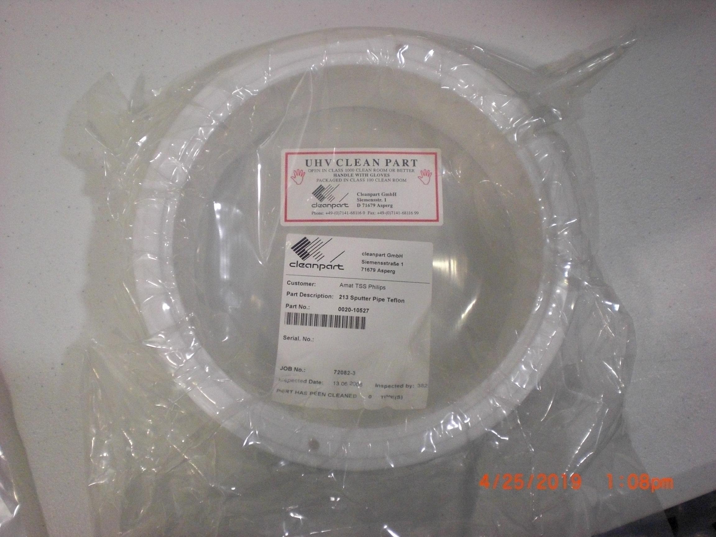 OEM Part Applied Materials (AMAT) 0020-10527 SPUTTER PIPE TEFLON