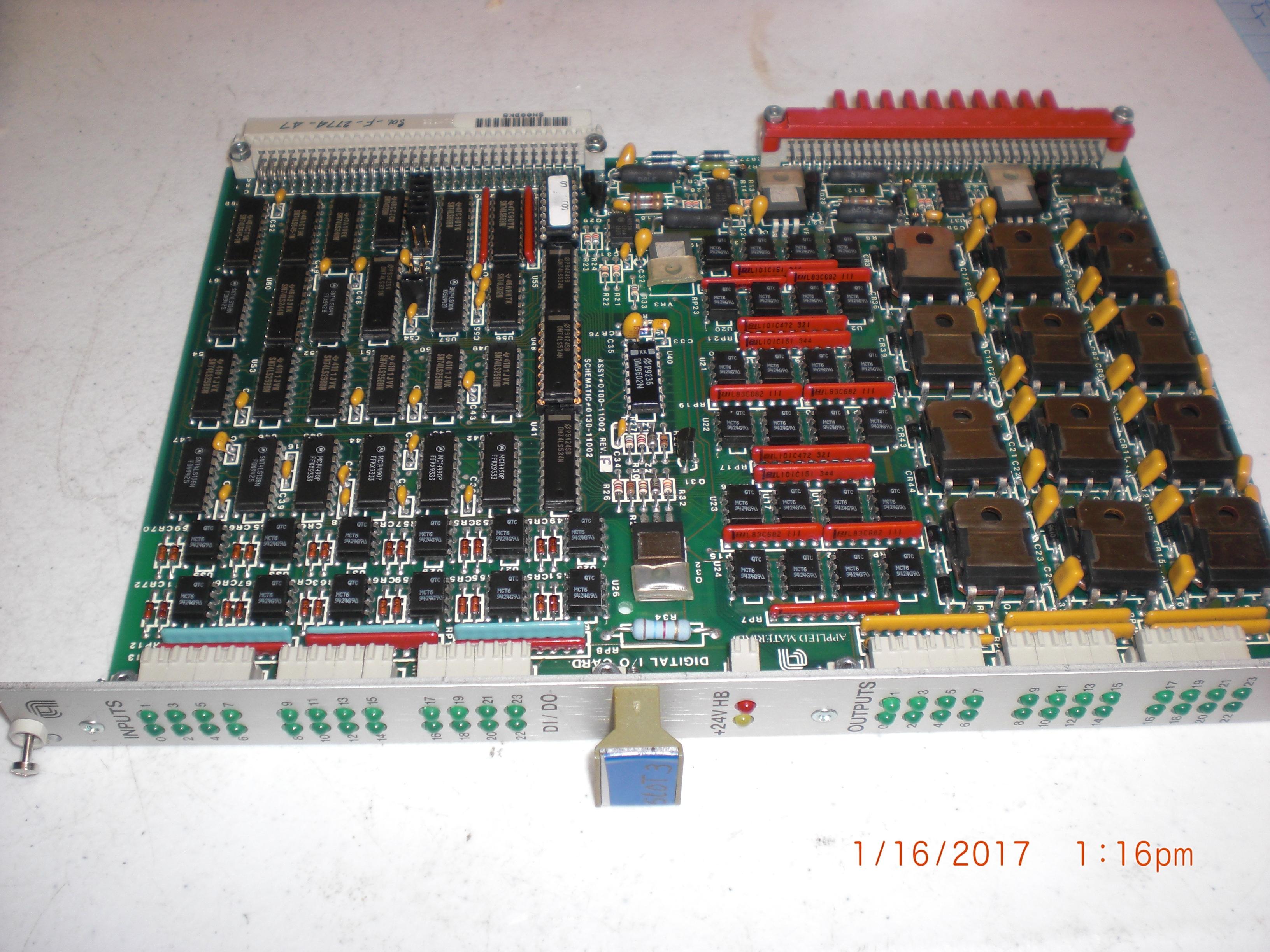 PCB (AMAT) 0100-11002 DIGITAL I/O PWB ASSY UNTESTED