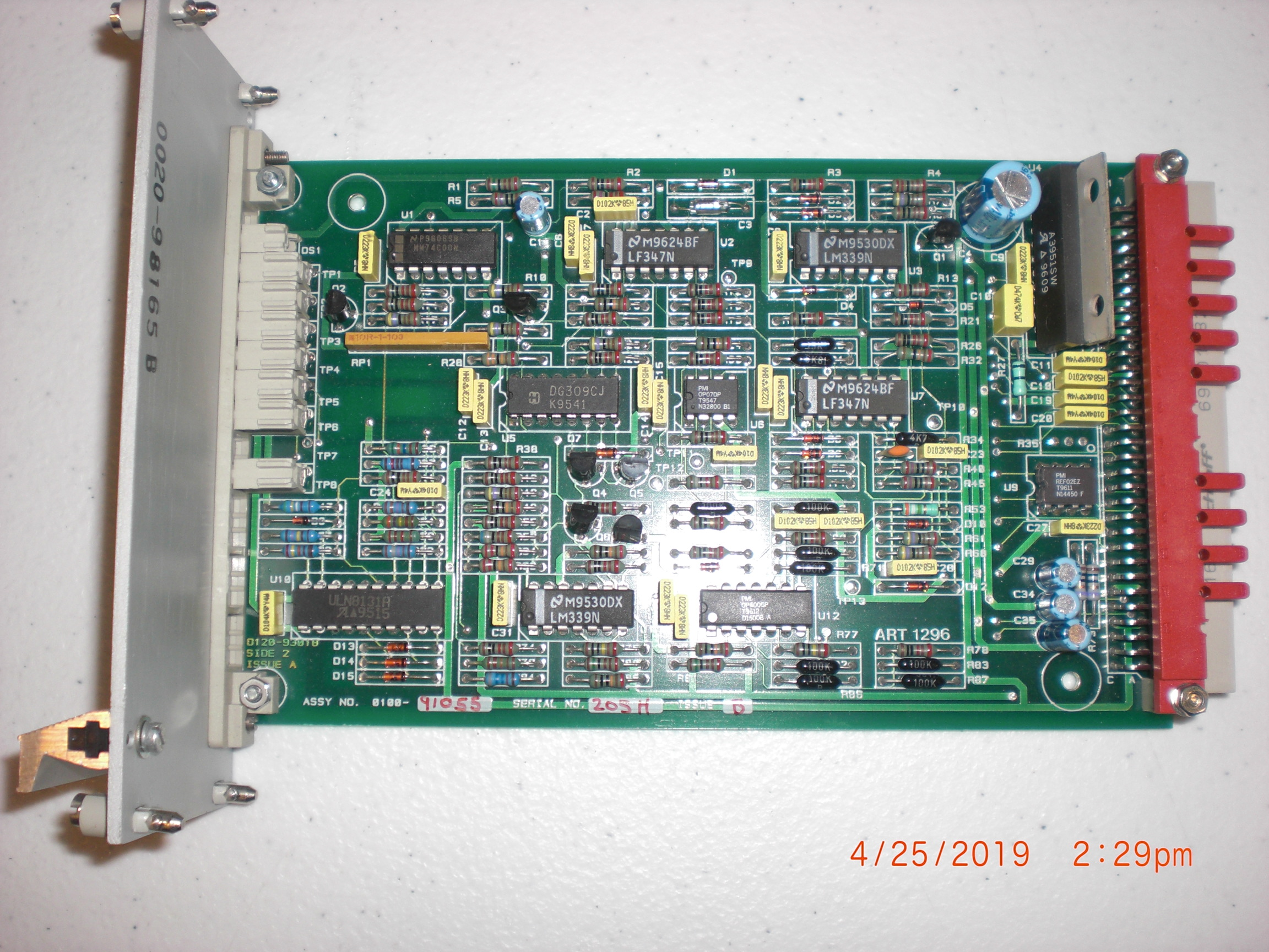PCB Applied Materials (AMAT) 0100-91055 PWBA GAP SERVO