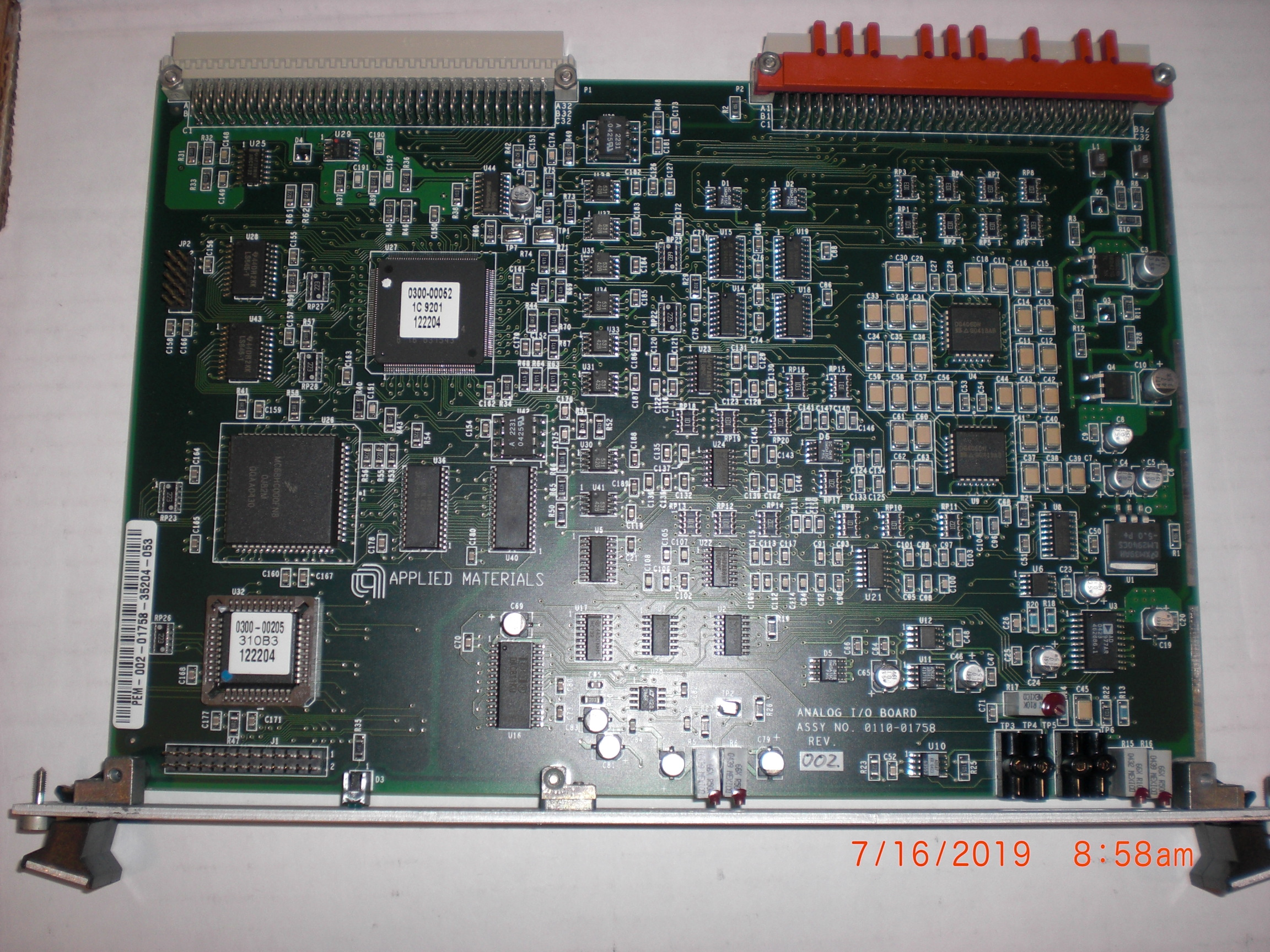 PCB Applied Materials (AMAT) 0110-01758 Analog I/O Board