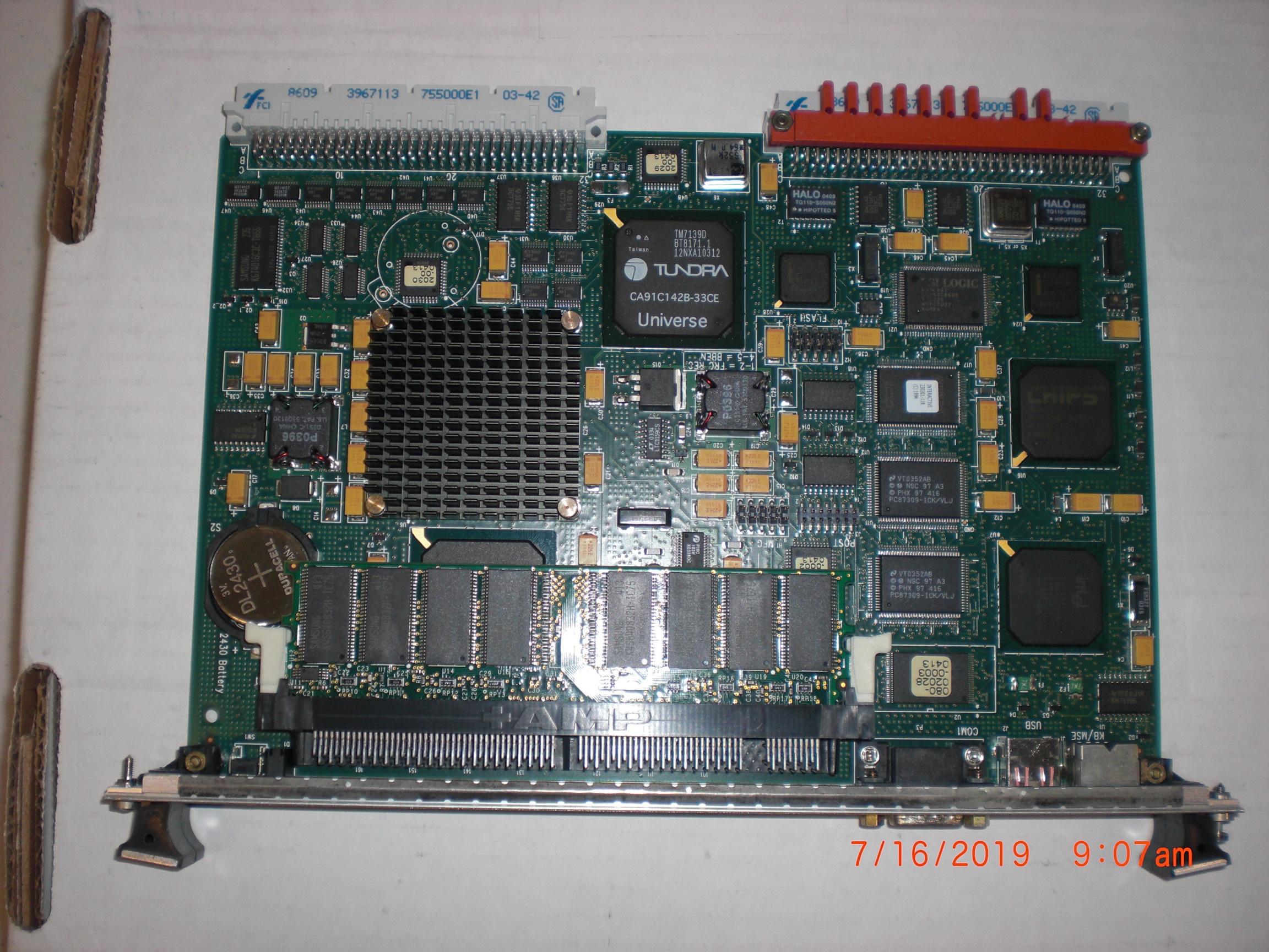 PCB Applied Materials (AMAT) 0190-11528 CARD PIII 400MHZ 128MB RAM VME BUS SINGL