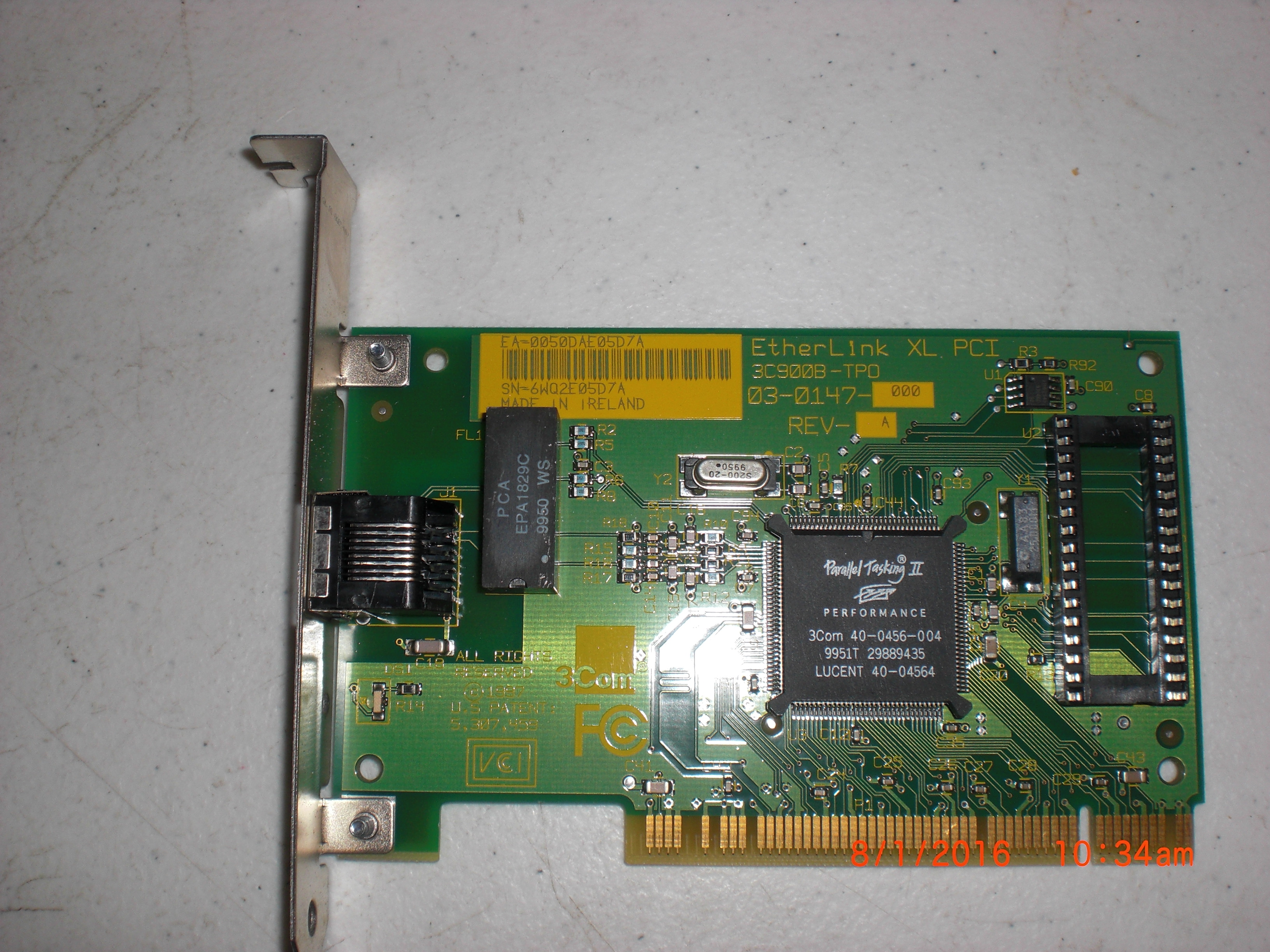 PCB 3COM 03-0147-000 PCB EitherLink XL PCI 3C9008-TPO