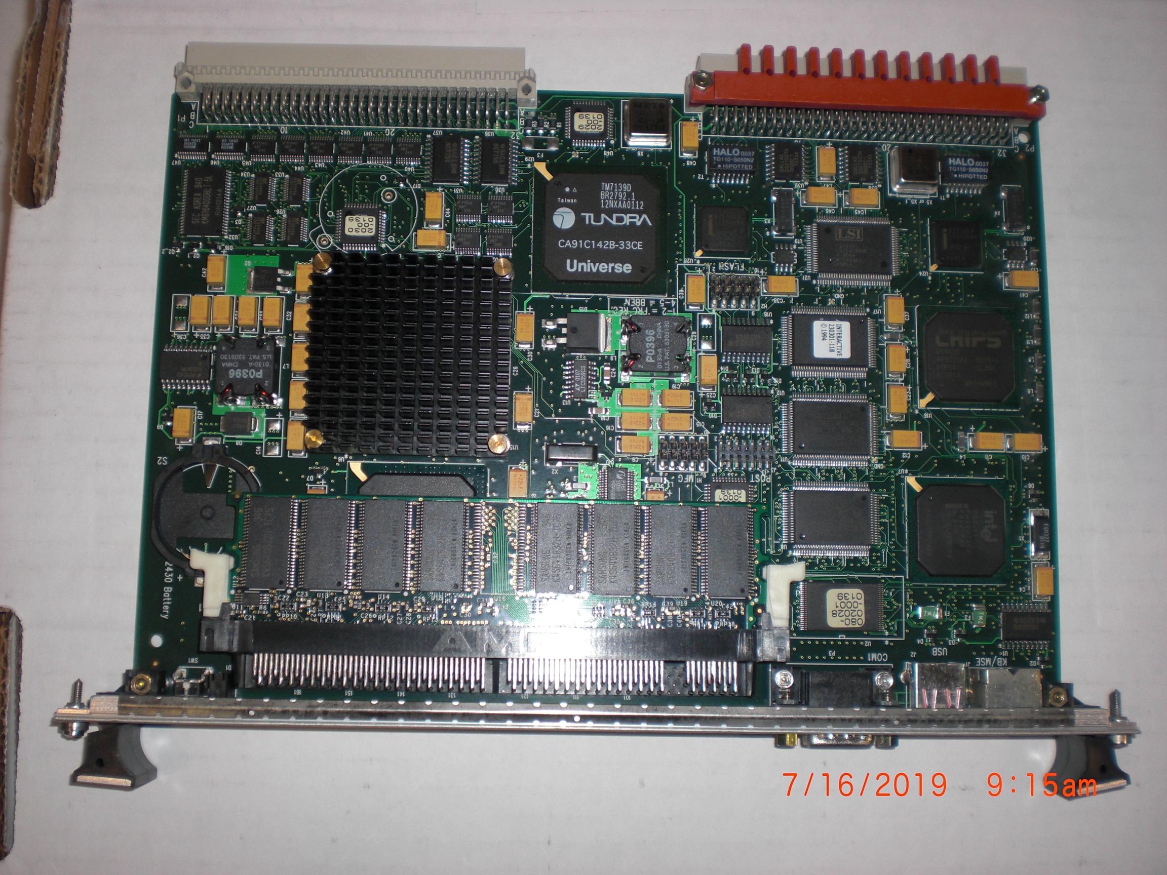PCB Applied Materials (AMAT) 0660-00032 VME PIII 400MHZ SINGLE SLOT  DUAL ENET