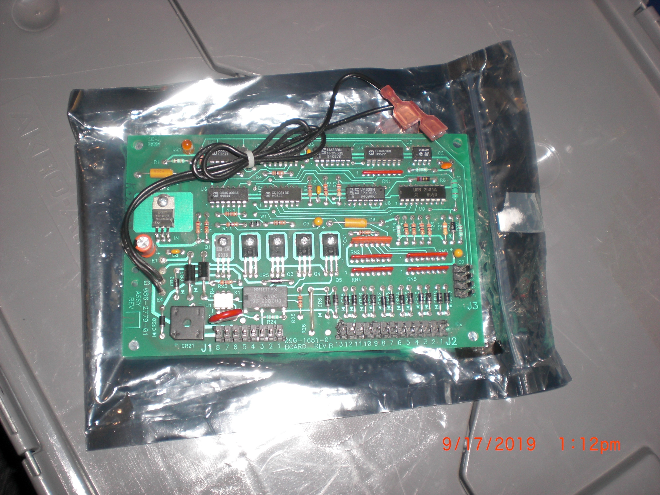 PCB TRANSLOGIC 086-2779-01 Curtain Control