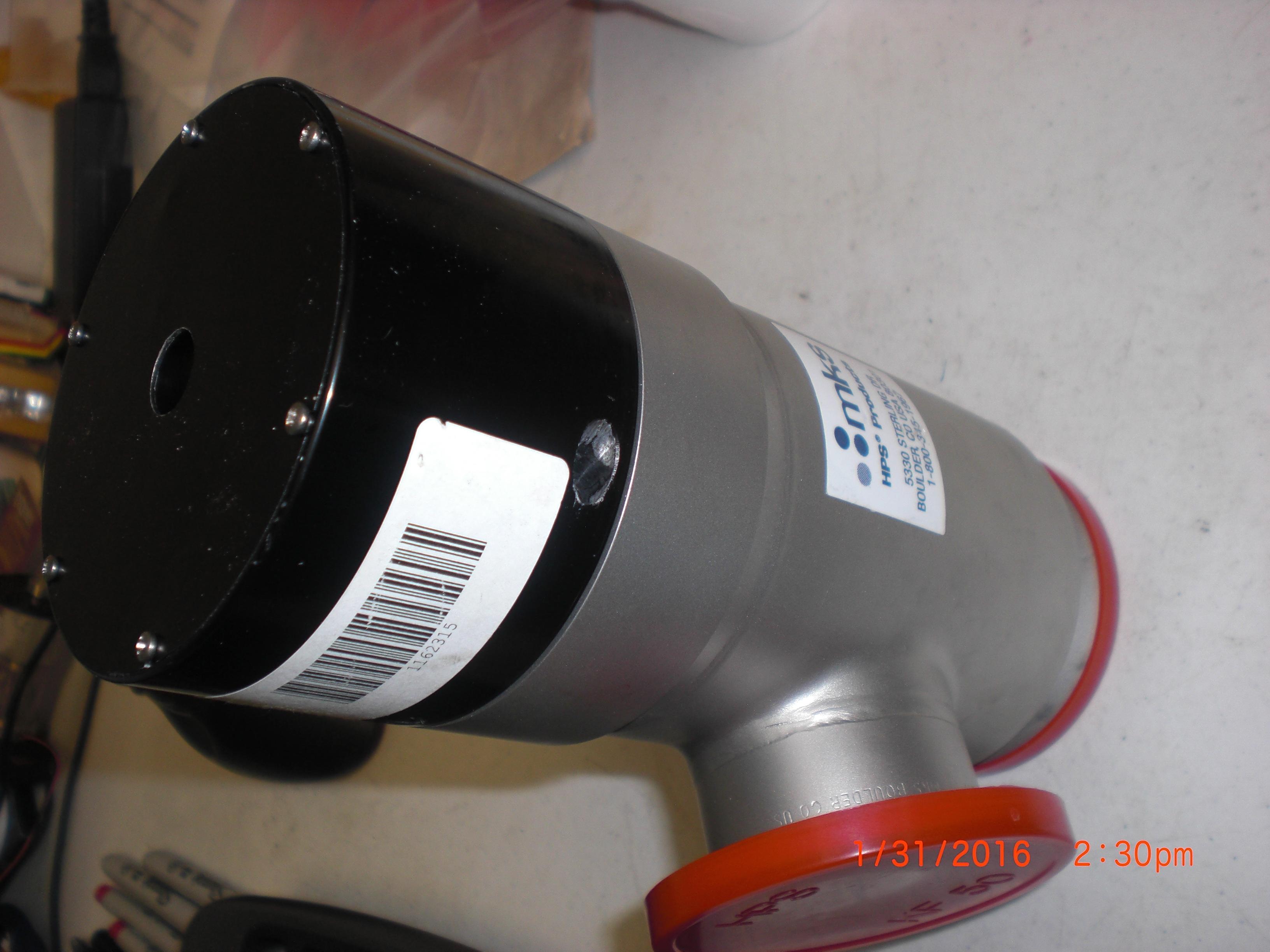 Valve MKS / HPS 100991861 Bellows valve right angle KF50