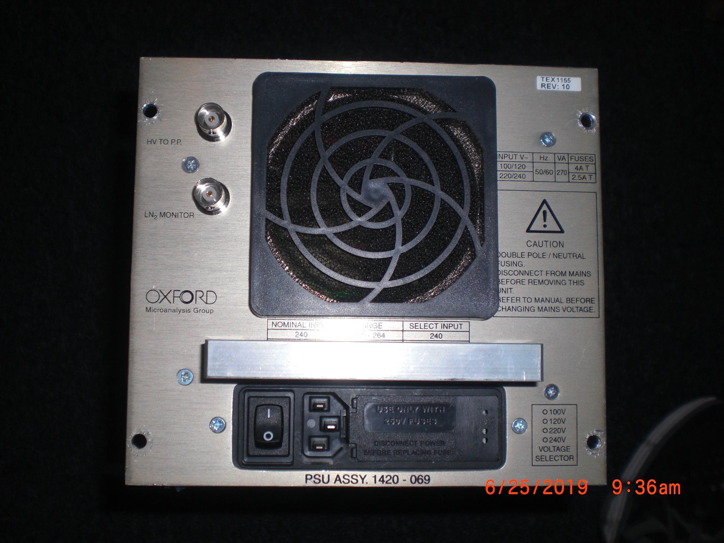 Power Supply  Oxford Microanalysis 1420-069 PSU Assy