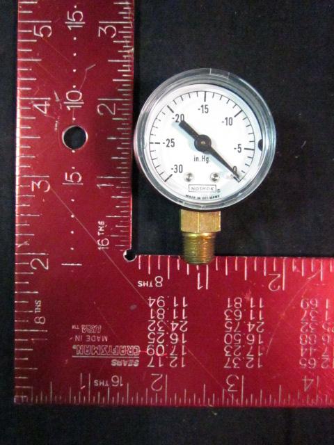 Gauge NOSHOK 15-100-1-8 Vacuum 30hg 1/8mpt bottom