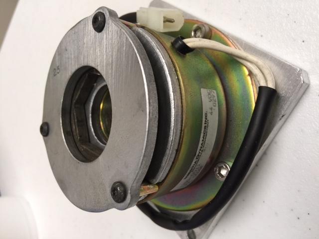 "Hardware INERTIA DYNAMICS 1705-0011 FLANGE MOUNTED BREAKS,48 VDC, 3/8"" HD, USED"