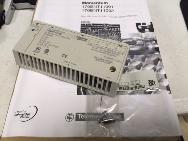 Controller TSX MOMENTUM ETHERNET COMMUNICATION ADAPTER TELEMECANIQUE 170ENT11002