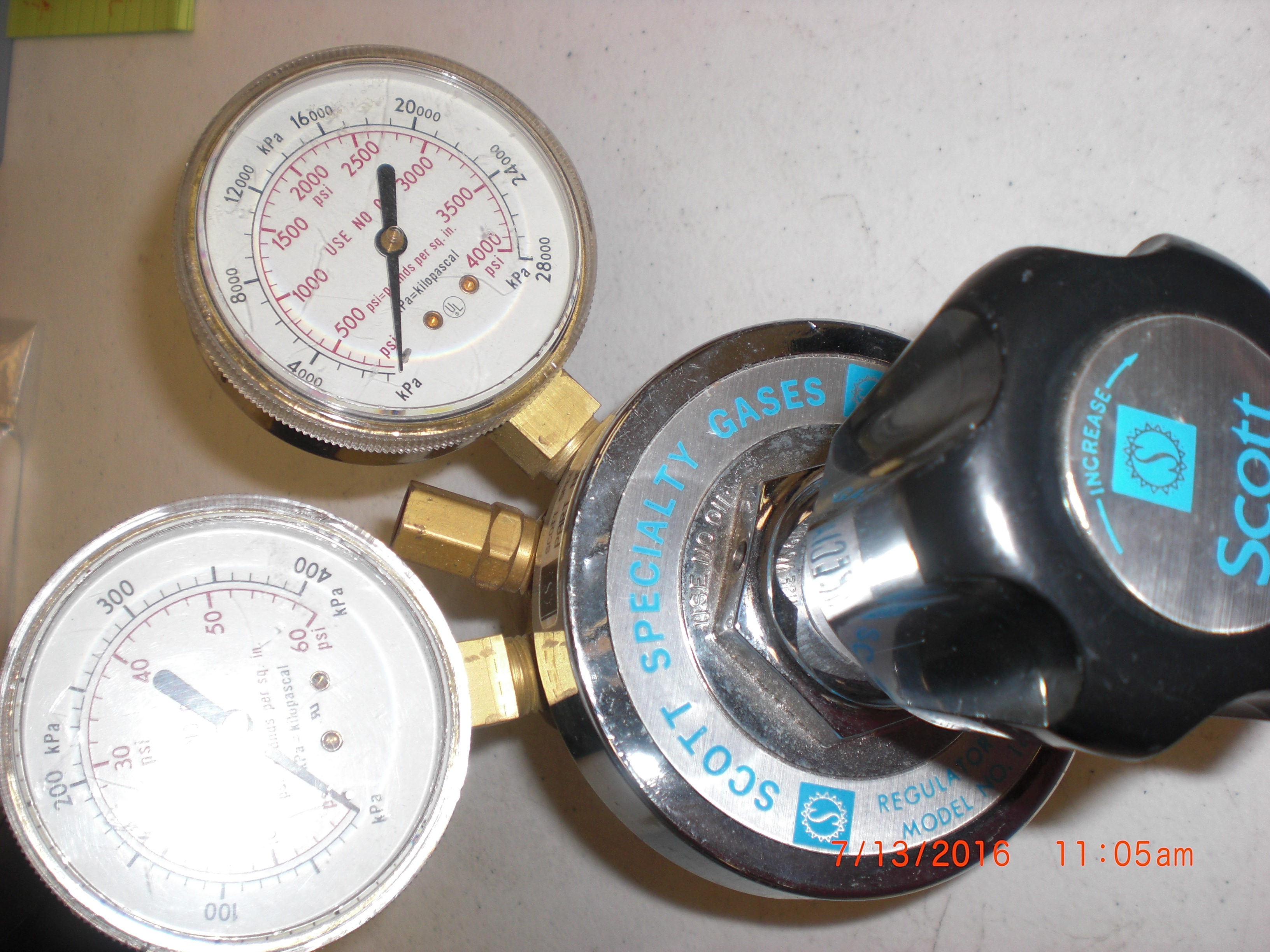 Regulator SCOTT 18A Regulator Brass Cylinder gas - Welding