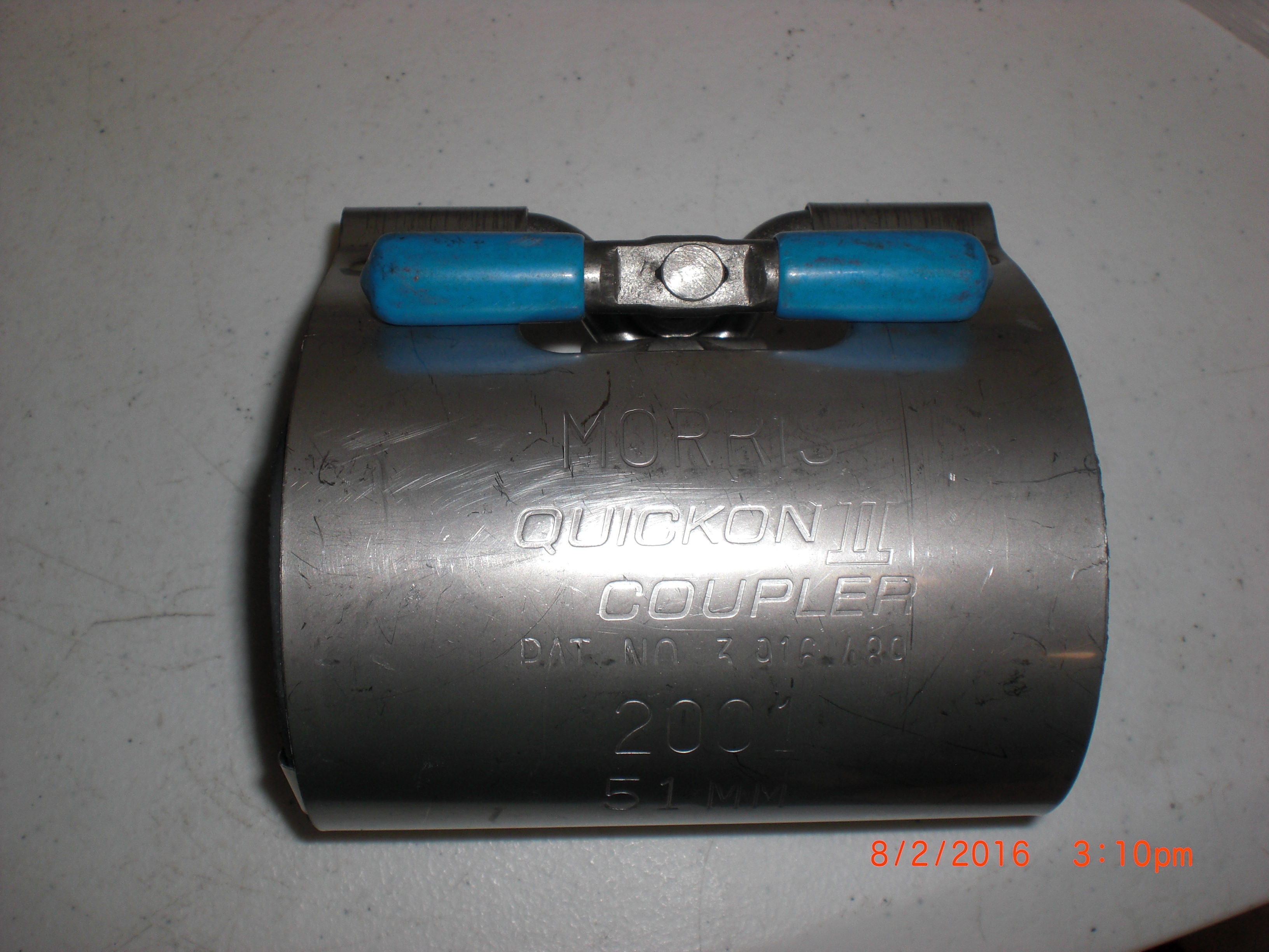 Pipe  coupler SS 51mm 2in MORRIS 2001 Quickon II