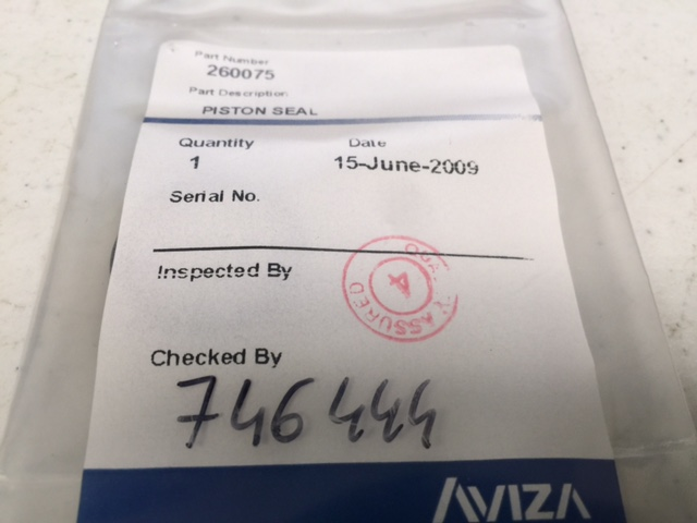Seal AVIZA 260075 PISTON SEAL