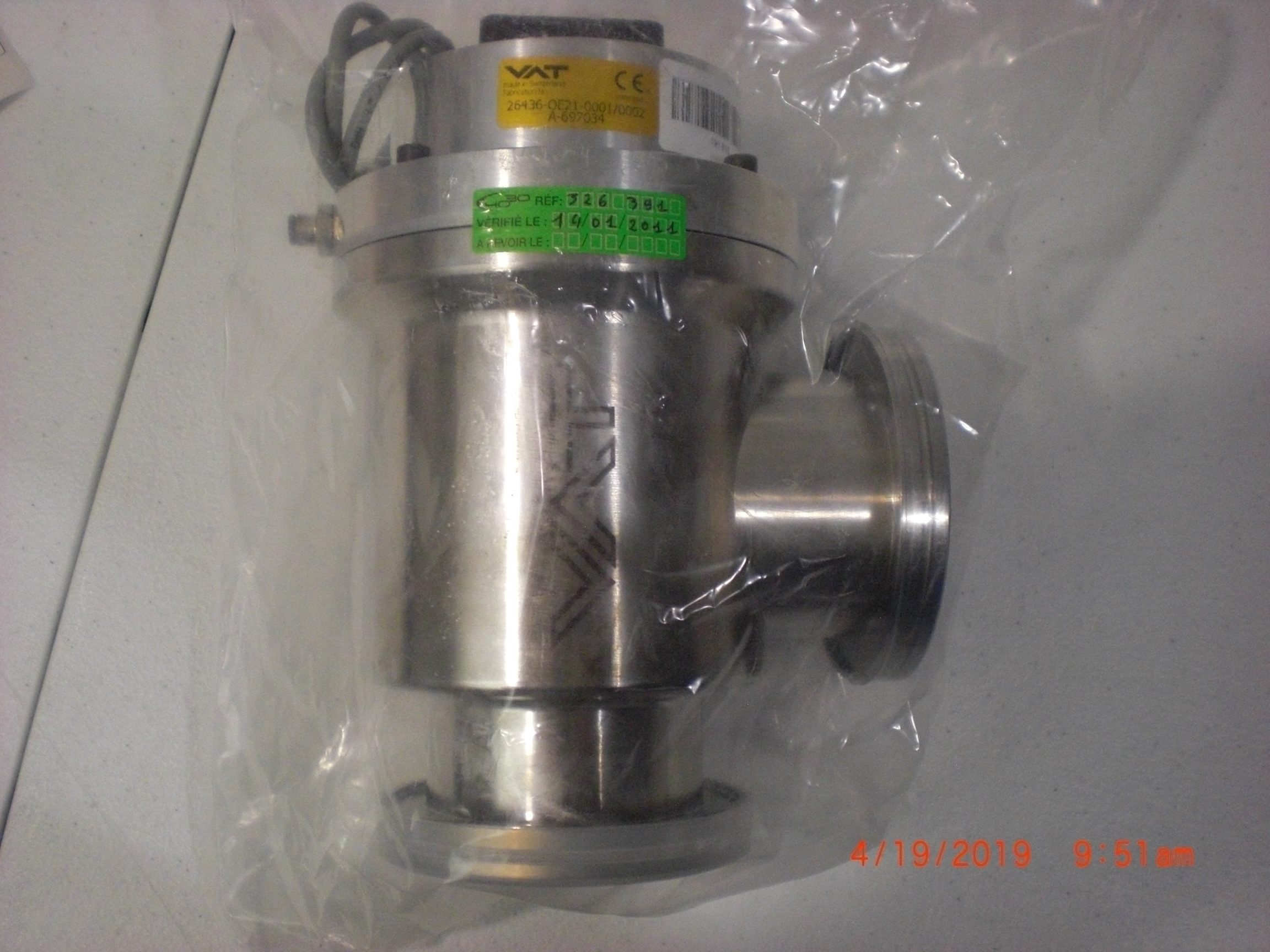 Valve VAT 26436-OE21-001/002 Bellows vacuum ISO 63