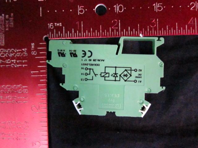 Relay din rail, 24VAC-VDC PHOENIX CONTACT DEK1.5 DEK-REL-24/1/1