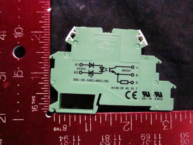 Relay OPTO ELECTRONIC COUPLER 24/48 VDC PKG 3 PHOENIX CONACT DEK1.5