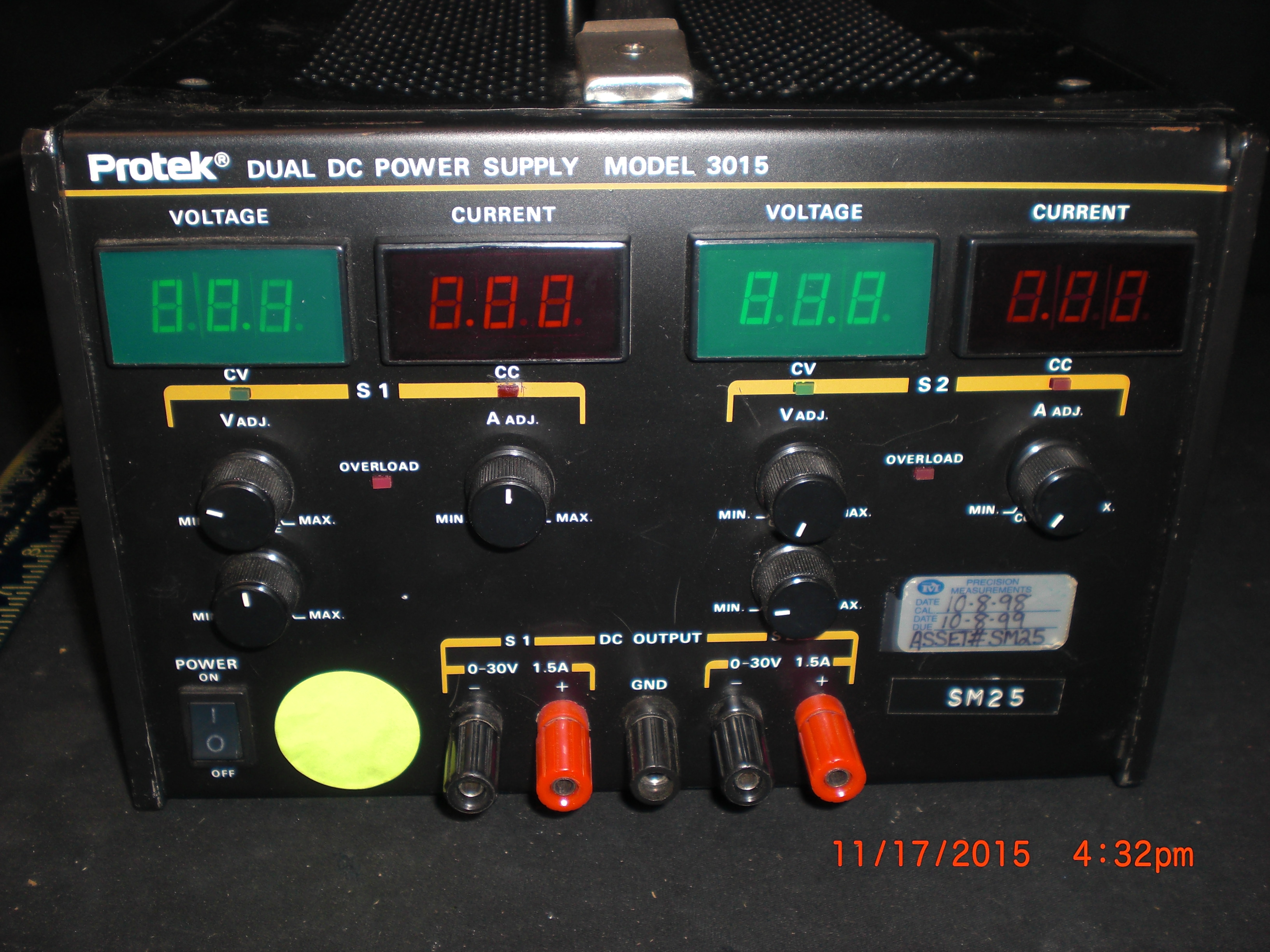 Power Supply  ProTek  3015 -Dual Channel DC w/o power cord