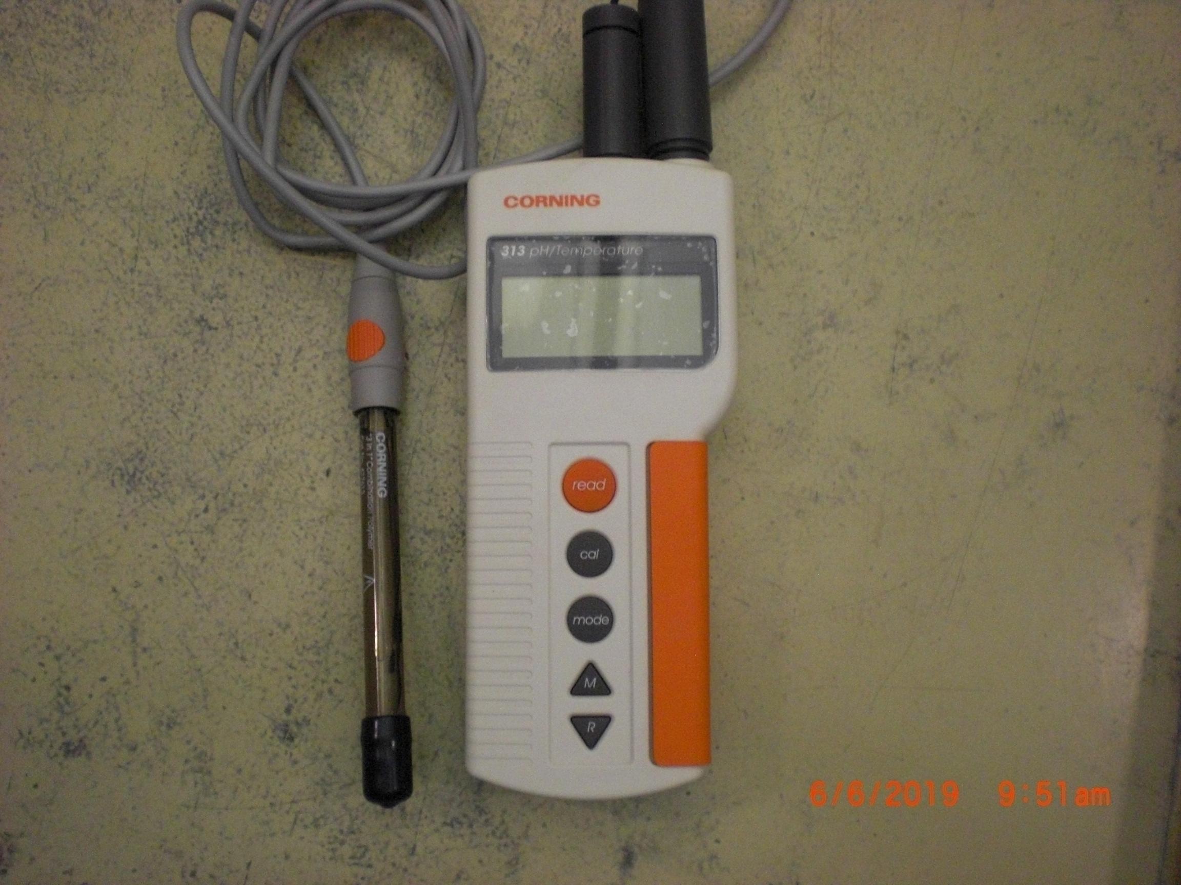 Sensor CORNING 313 PH/Temprature meter