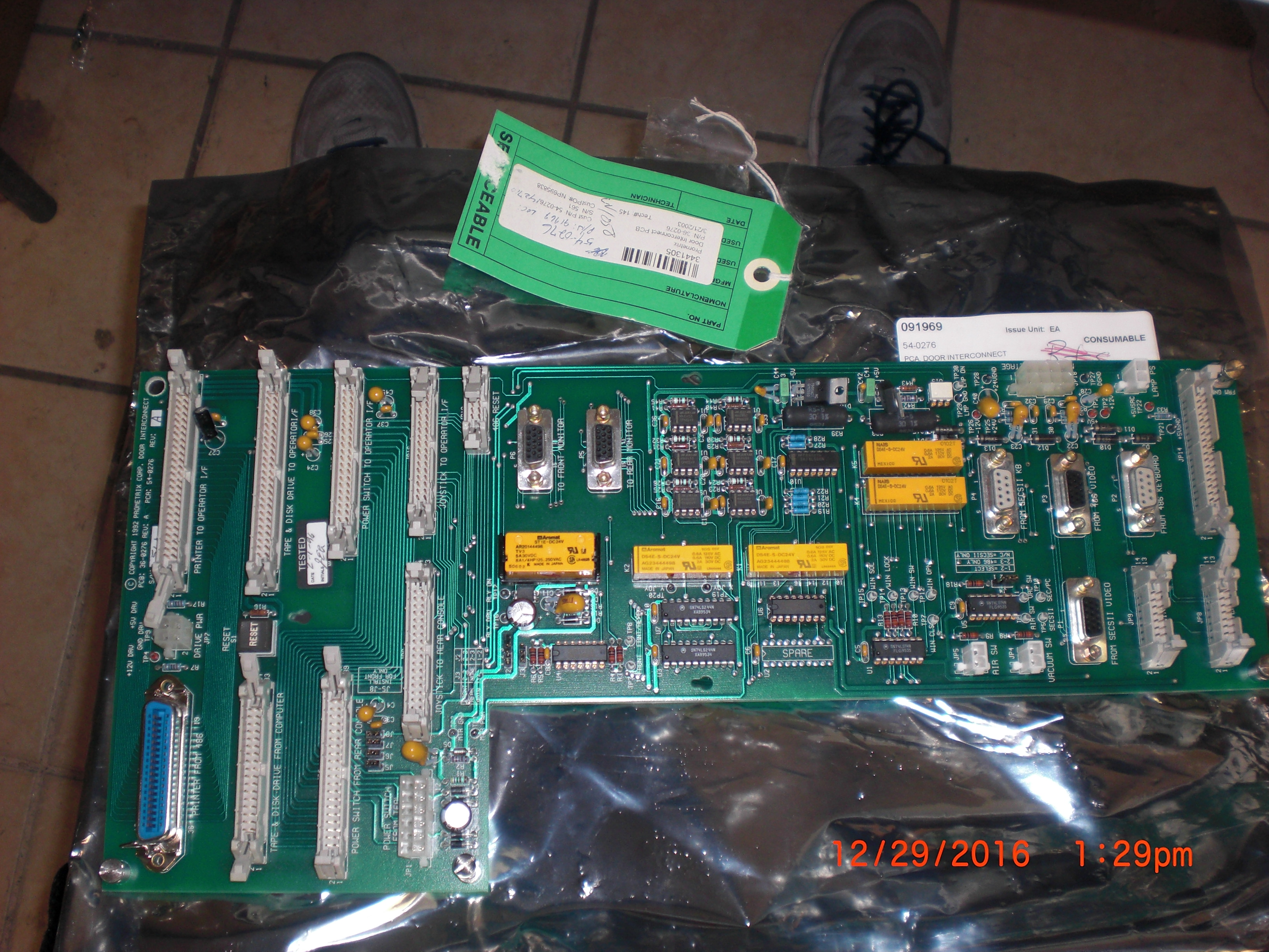 PCB Door Interconnect  PROMETRIX-KLA 36-0276 54-0276