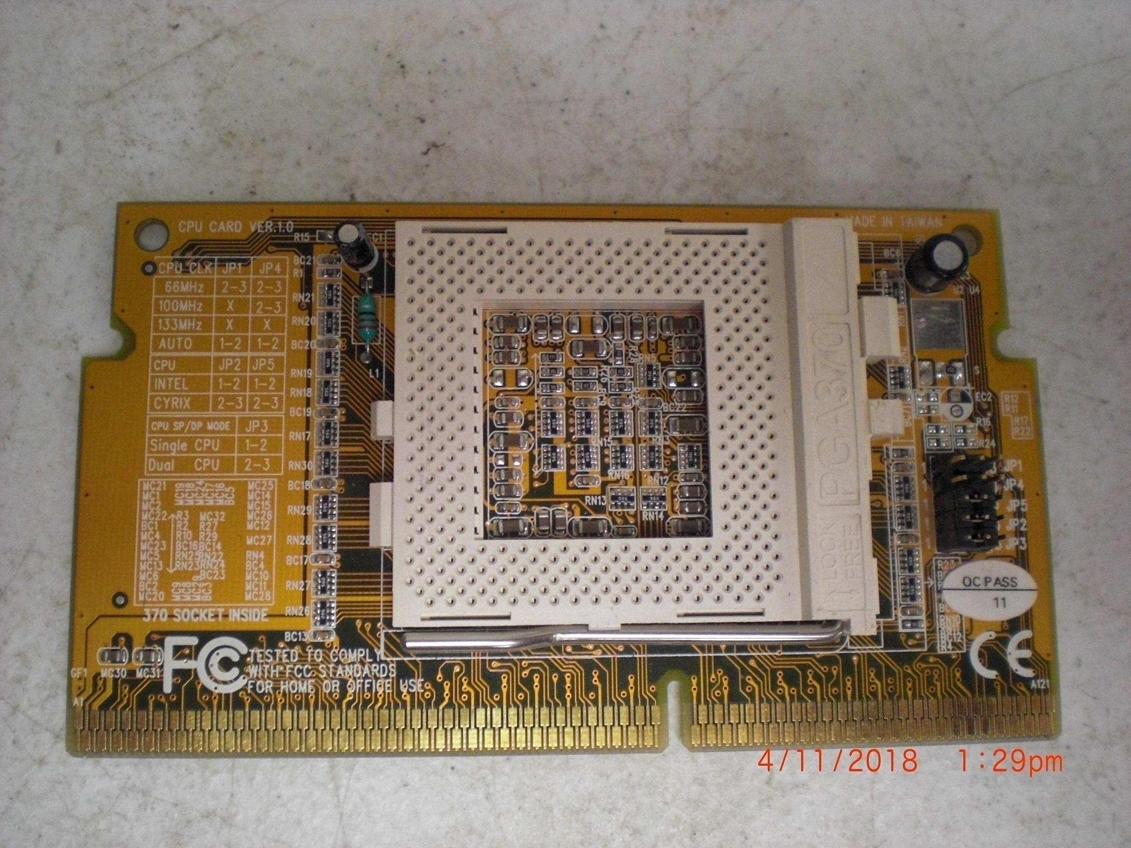 Computer Accessory FC 370 CPU Card REV1.0