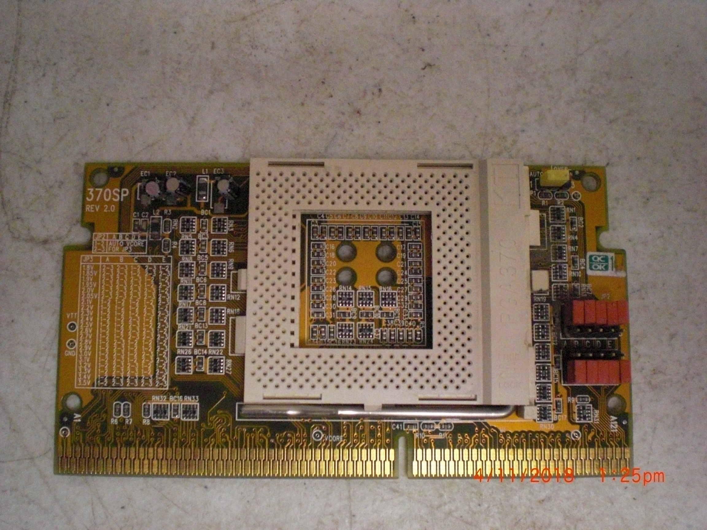 Computer Accessory FC 370SP CPU Card REV2.0