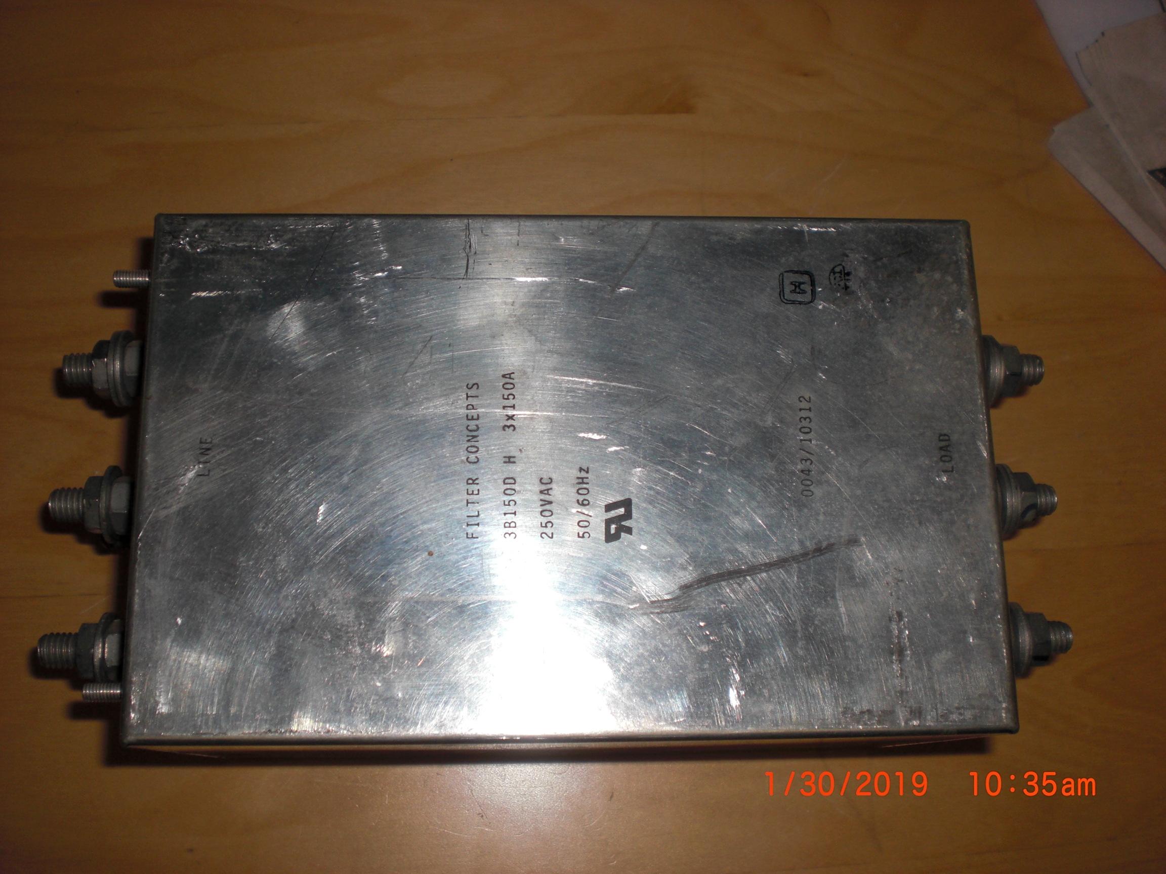 Filter  FILTER CONCEPTS 3B150D EMI Line 250VAC 150A X3