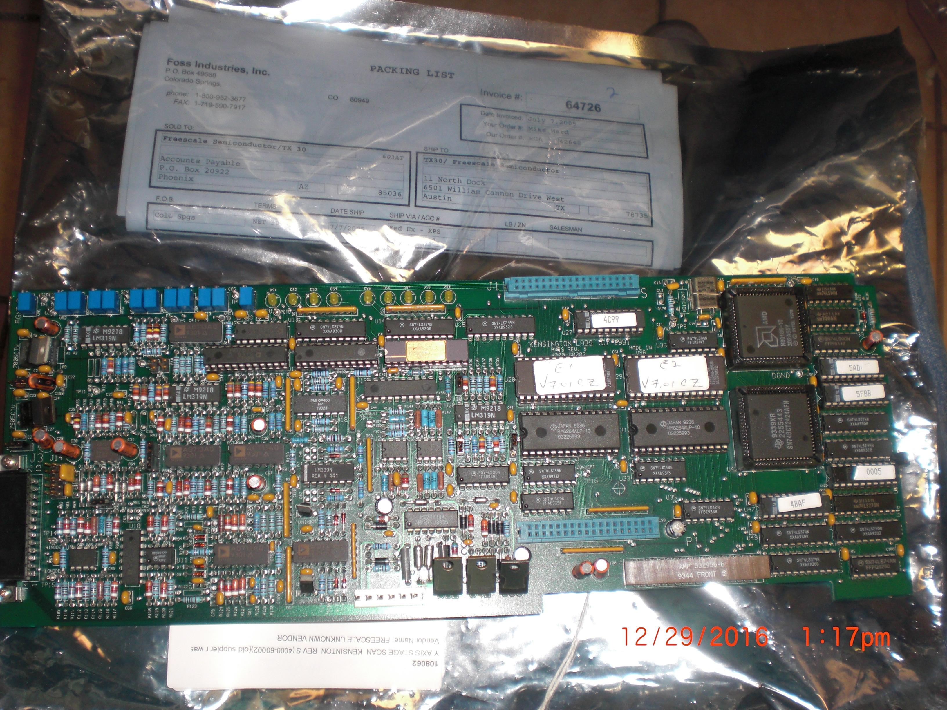 PCB W/Y Axis  KENSINGTON 4000-60002