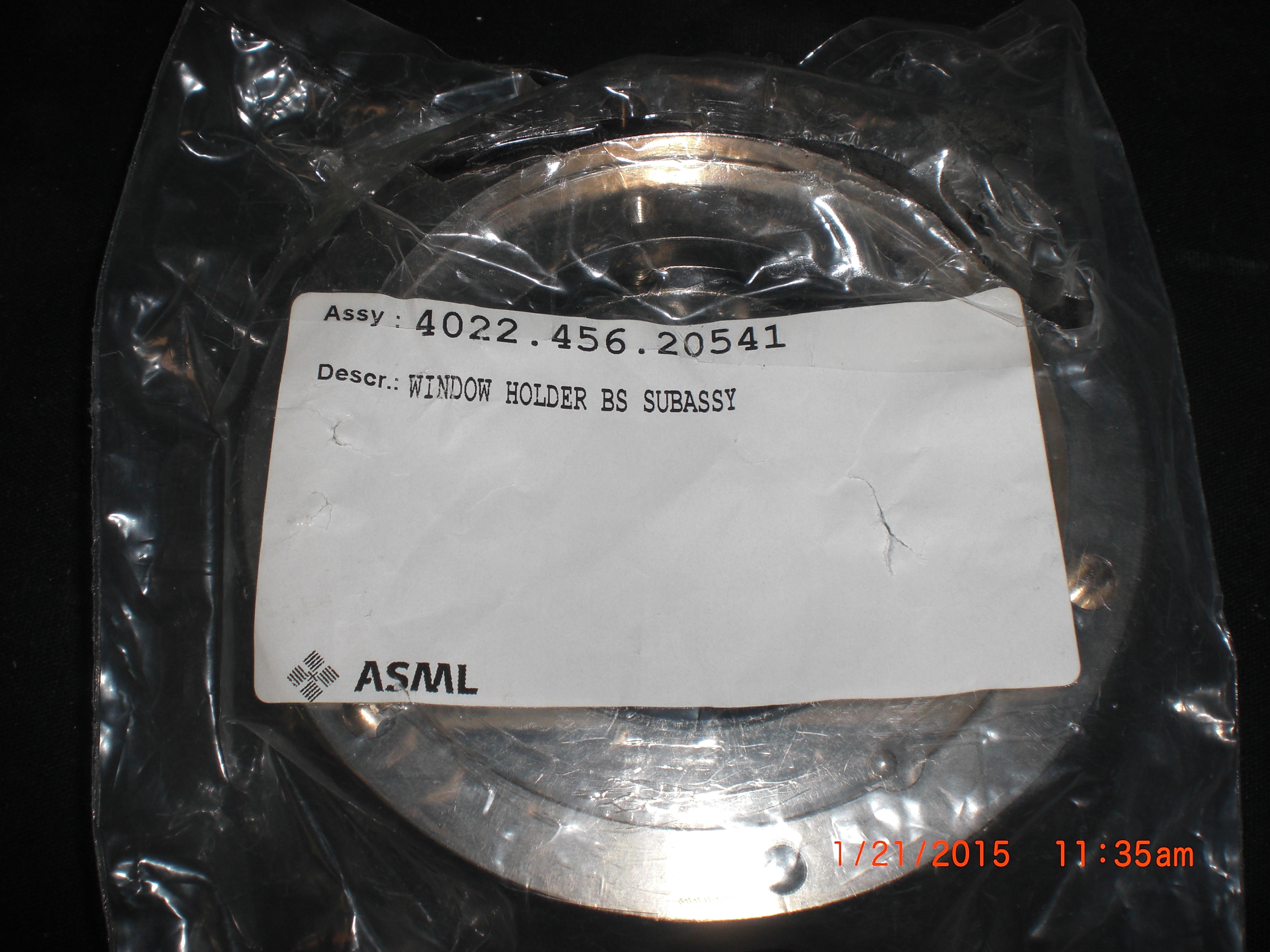 Lens  ASML SERV.456.20541 Window Holder BS SUB-ASSY