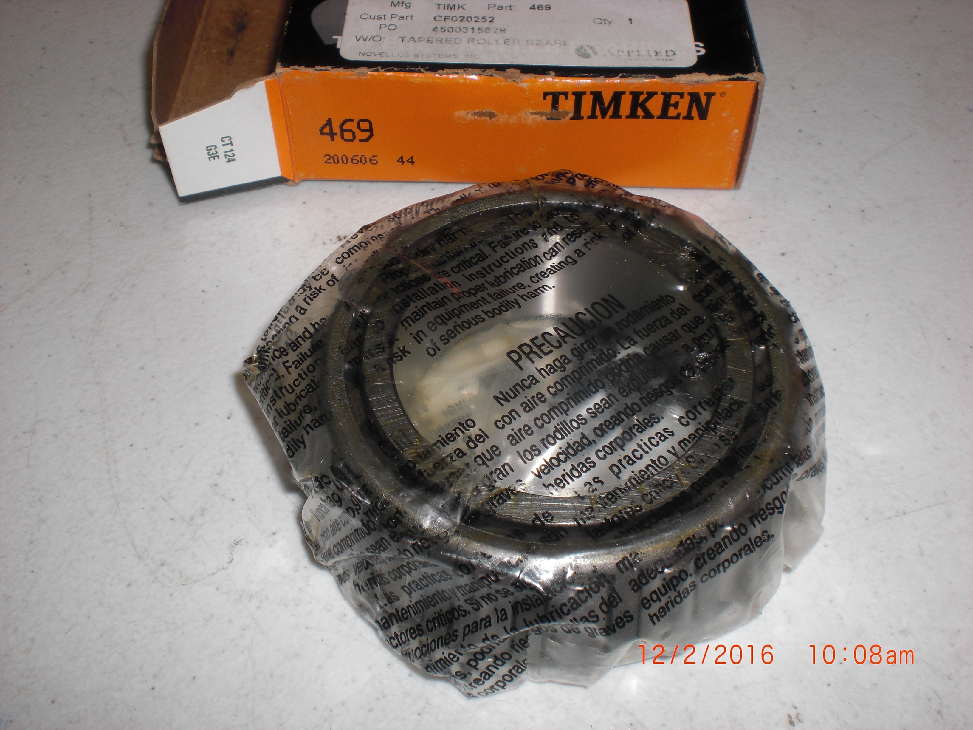 Bearing Tapered Roller  Timken 469