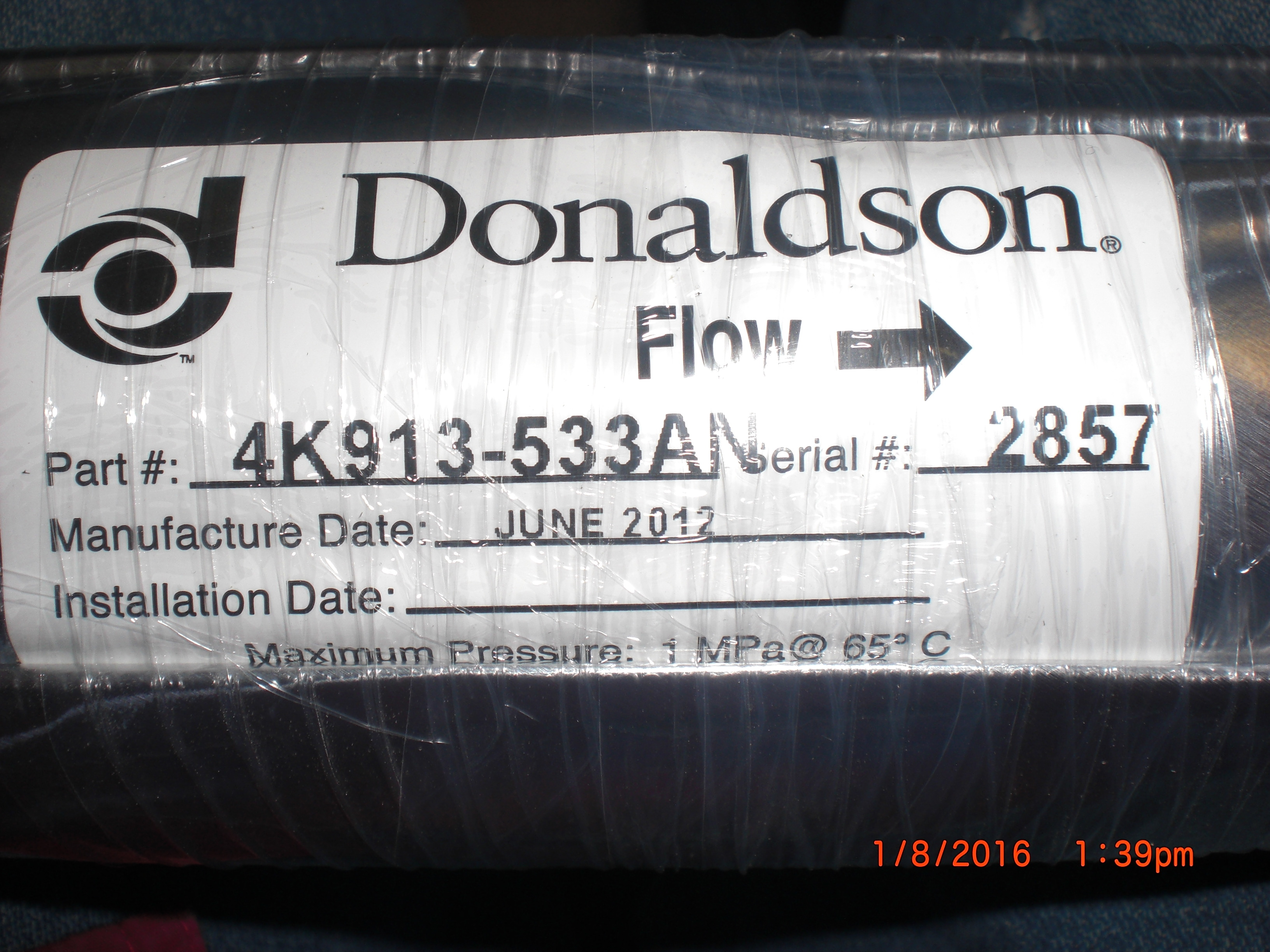Filter  Chemical LFU 50L Litho DONALDSON 4K913-533AN