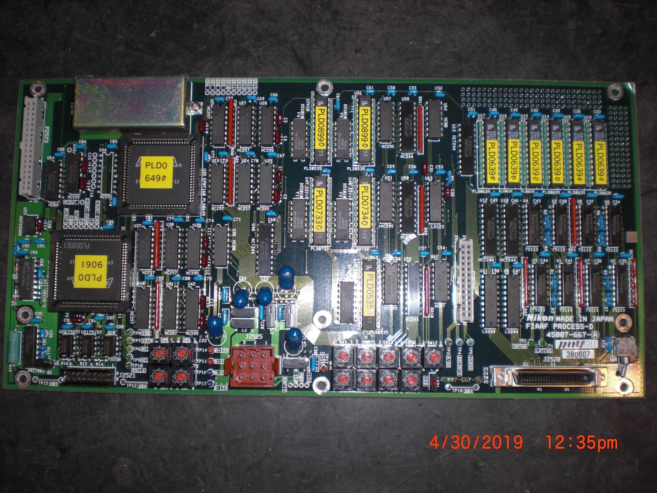 PCB NIKON 4S007-667-A  FIAAF Process - D