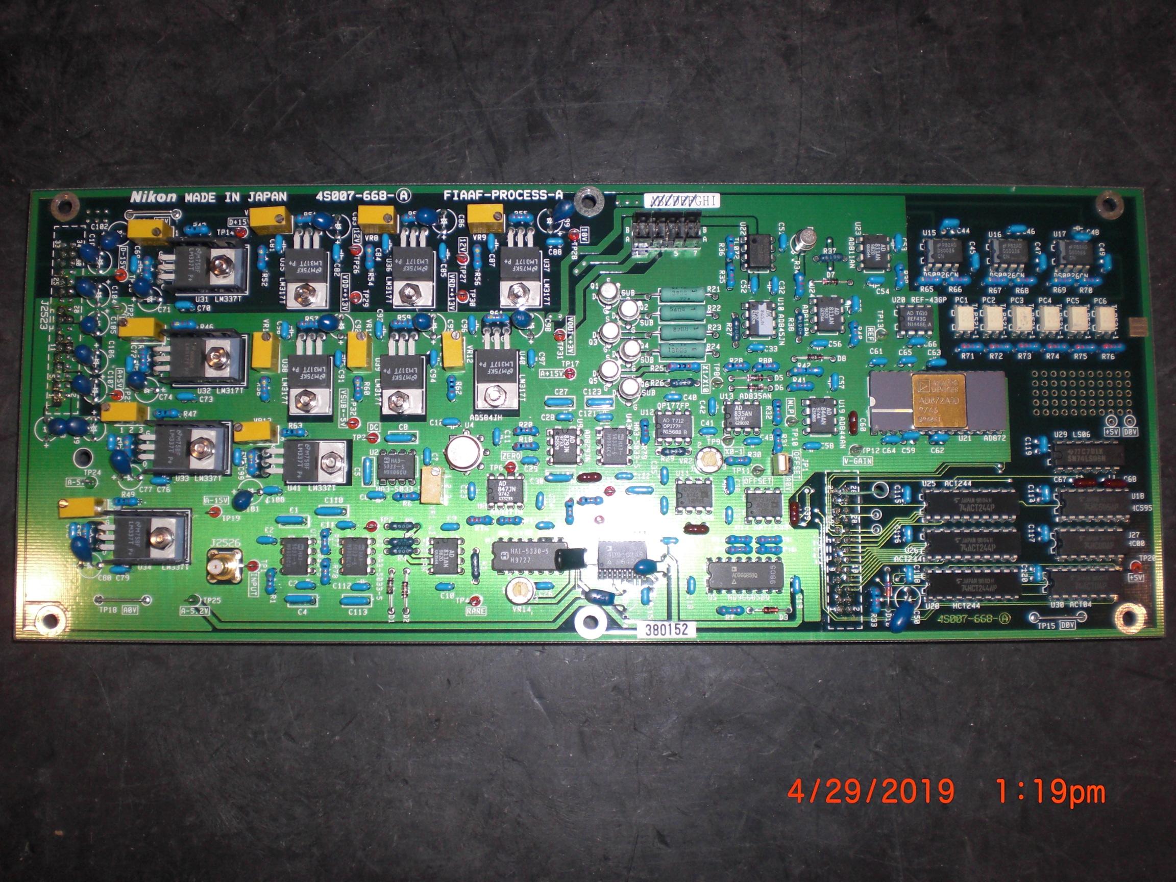 PCB NIKON 4S007-668-A FIAAF-PROCESS-A