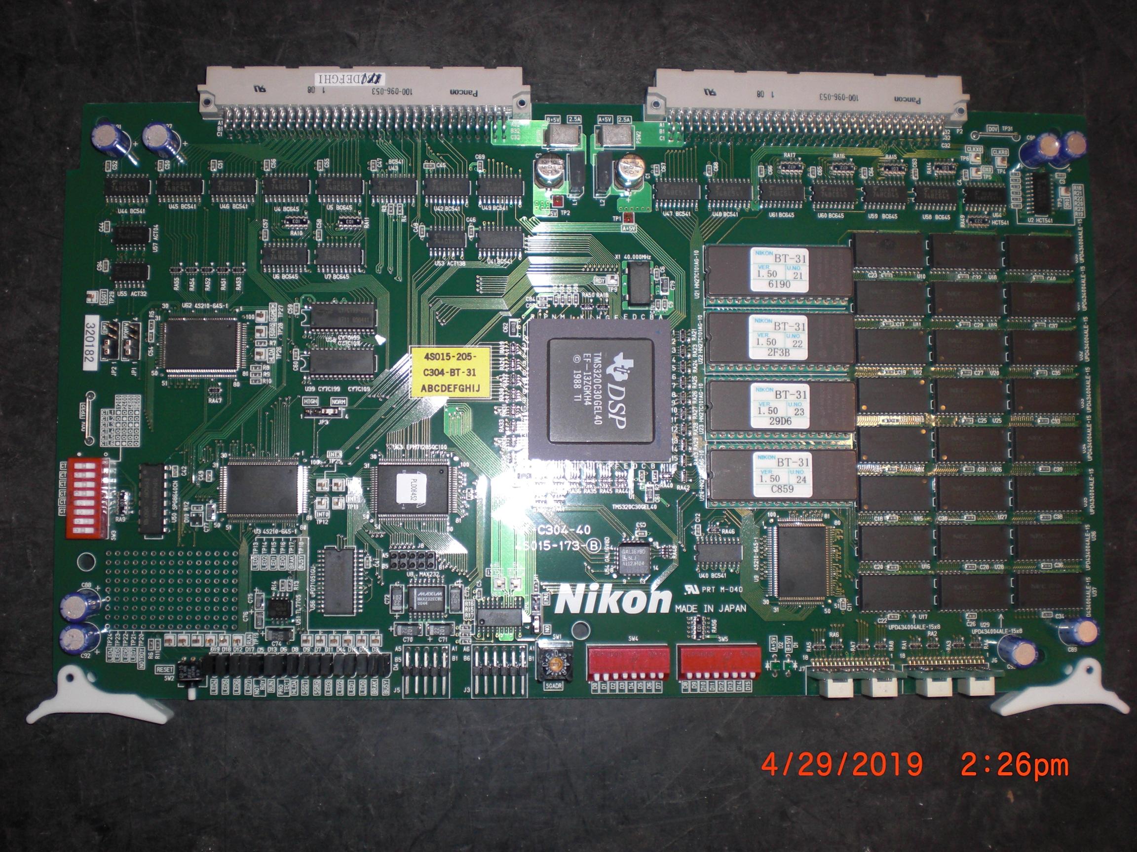 PCB NIKON 4S015-173 NK-C304-40 Processor Control