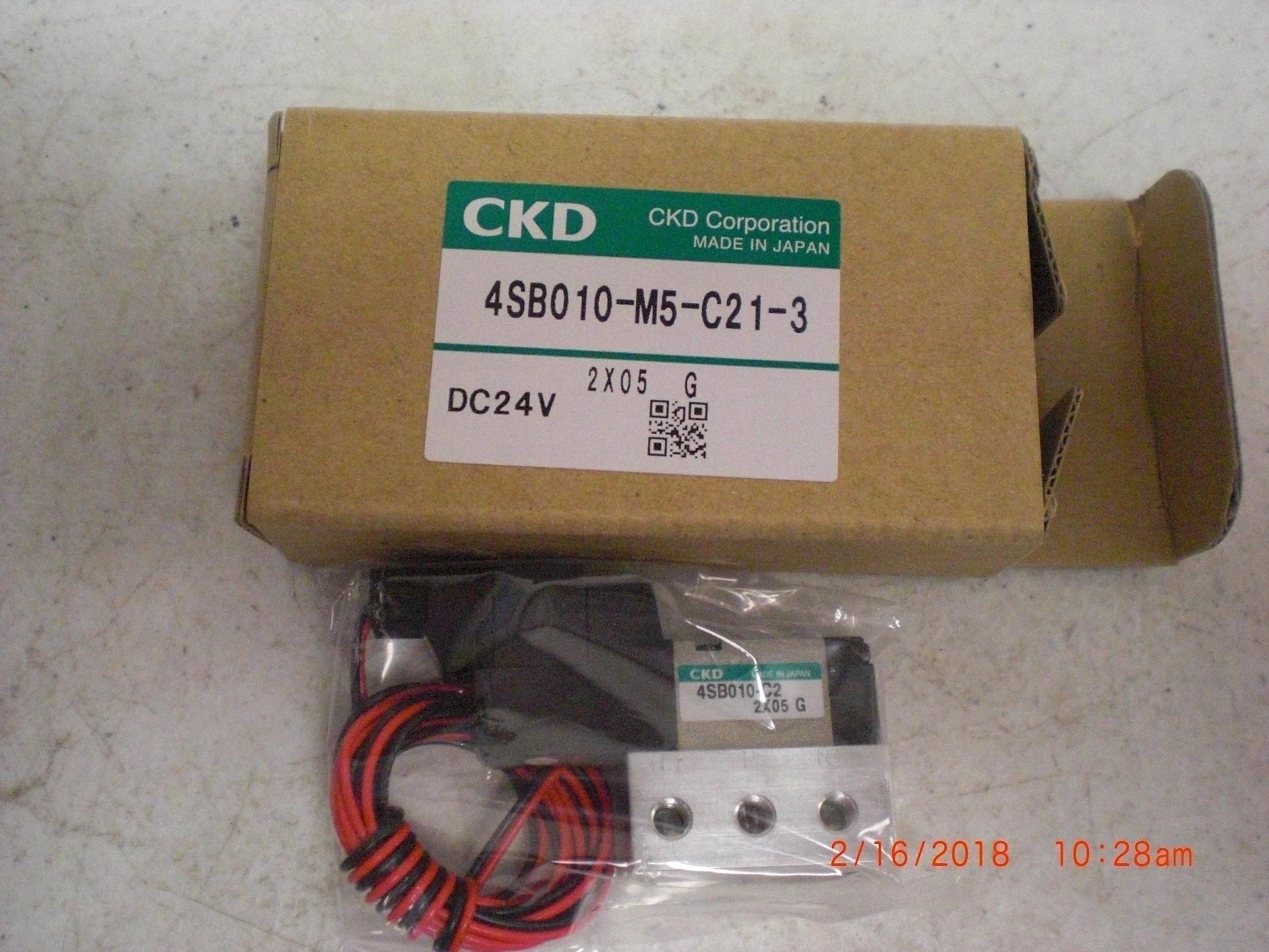 Valve CKD 4SB010-M5-C21-3 solenoid DC24V