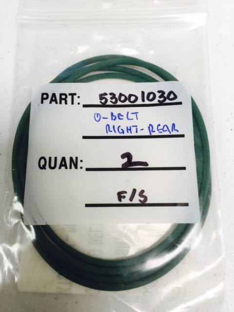 Belt O-RING (2 PKG) PARKER 53001030
