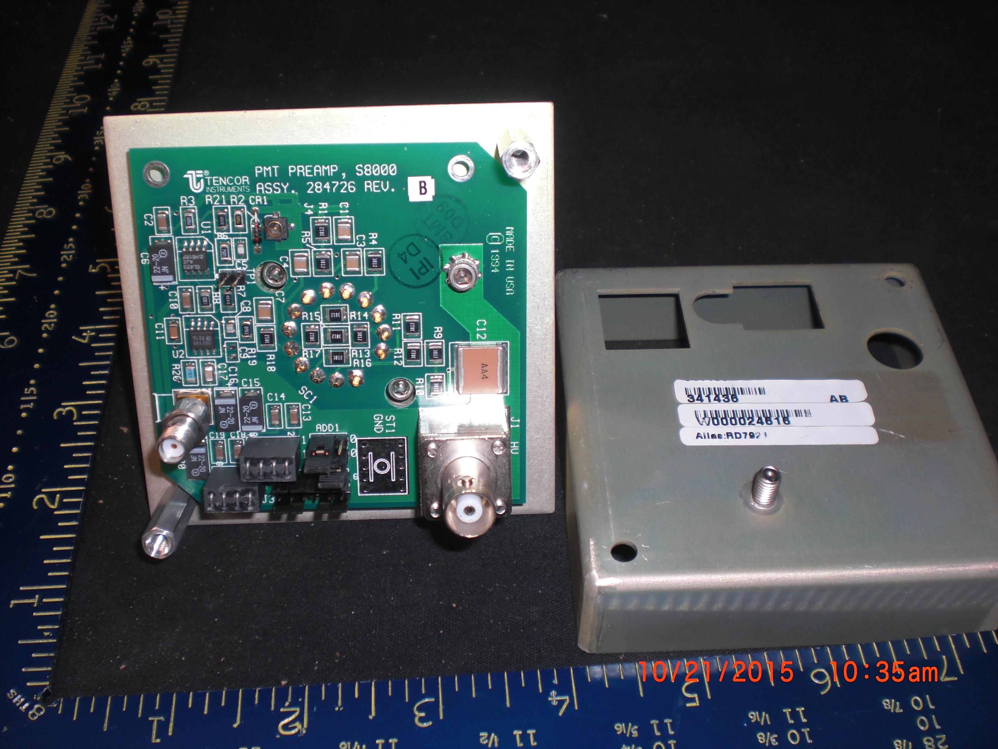 Amplifier KLA TENCOR 284726  PMT Preamp S8000 Assy, unit 341436